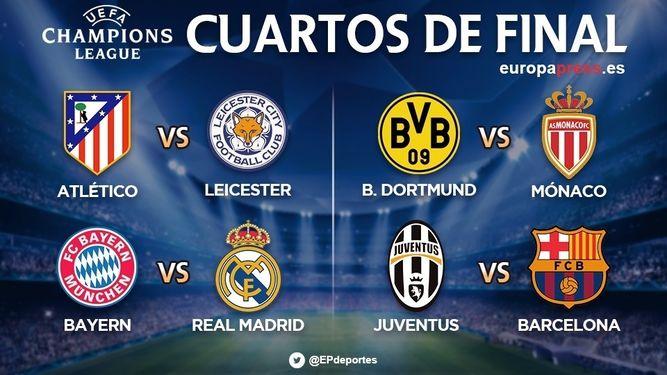 Bayern-Real Madrid y Juventus-Barça grandes duelos de cuartos ...