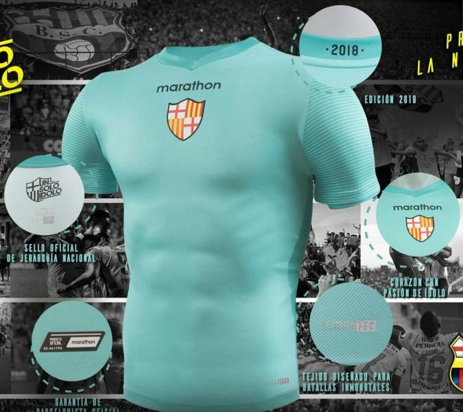 best sneakers f8d96 5933f Camiseta alterna de Barcelona SC para la temporada 2018 ...